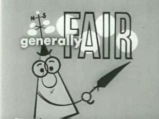 Still from 1950s weatherman cartoon
